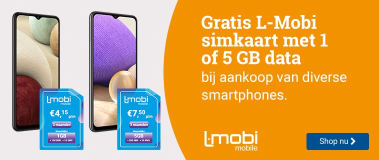 Gratis L-Mobi simkaart Bij diverse smartphones