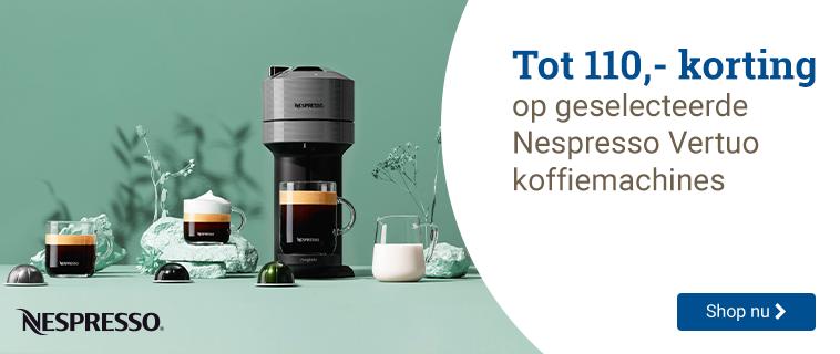 Nespresso Tot 110,- korting!