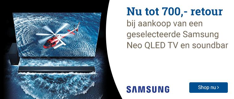 Samsung Tot 700,- retour!