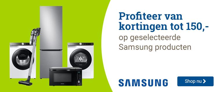 Samsung tot 150,- korting!